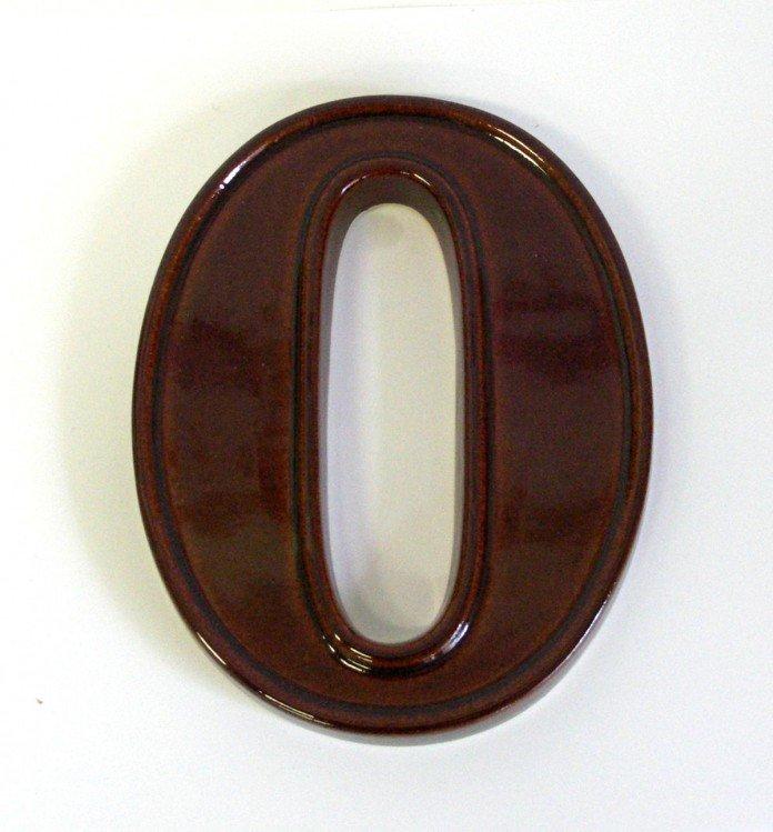 Číslice domovní keramická