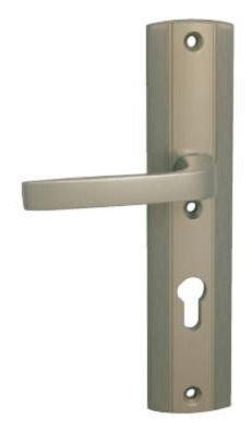 Kování bezpečnostní LINIA PRESTIGE 90 mm, vložka, klika/klika F9 nerezový elox