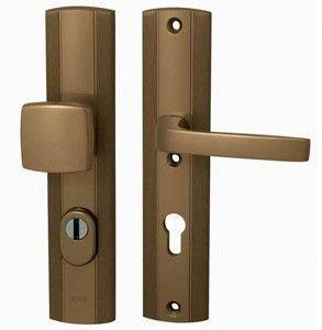 Kování bezpečnostní LINIA PRESTIGE Plus, 72, na vložku, madlo+klika, F4