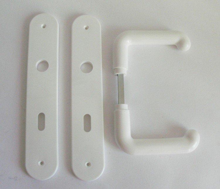 Kliky se štíty IDEAL 2000 72 mm klíč bílá