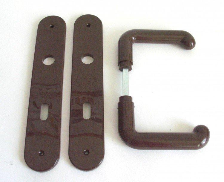 Kliky se štíty IDEAL 2000 90 mm klíč hnědá
