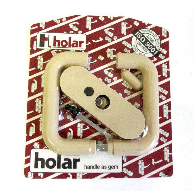 Kliky se štíty s páčkou HOLAR béžová