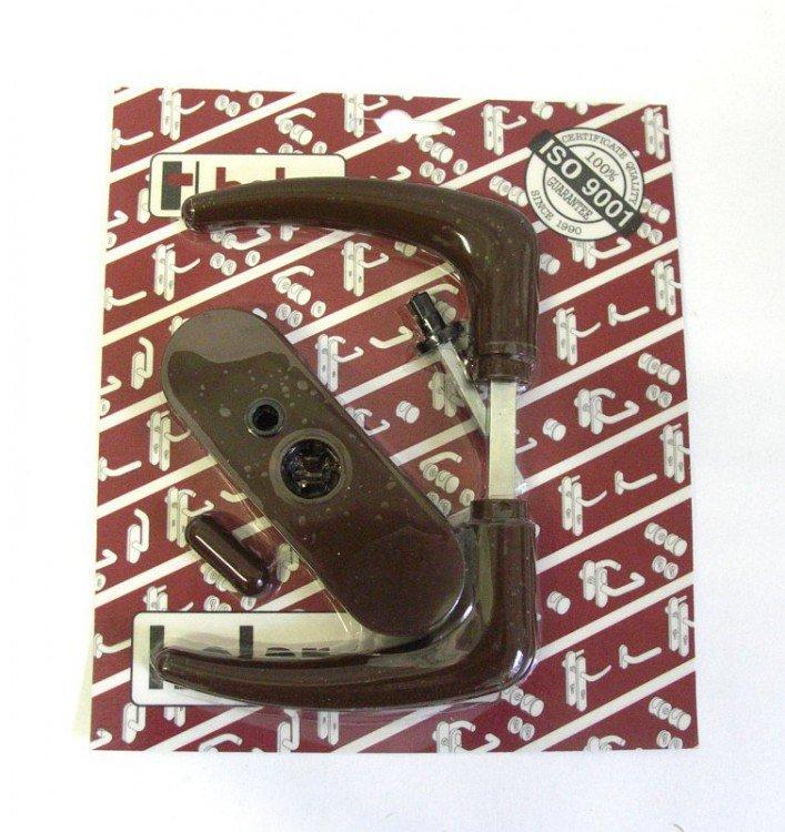 Kliky se štíty s páčkou mezipokojové KLASIK, hnědá (3019)