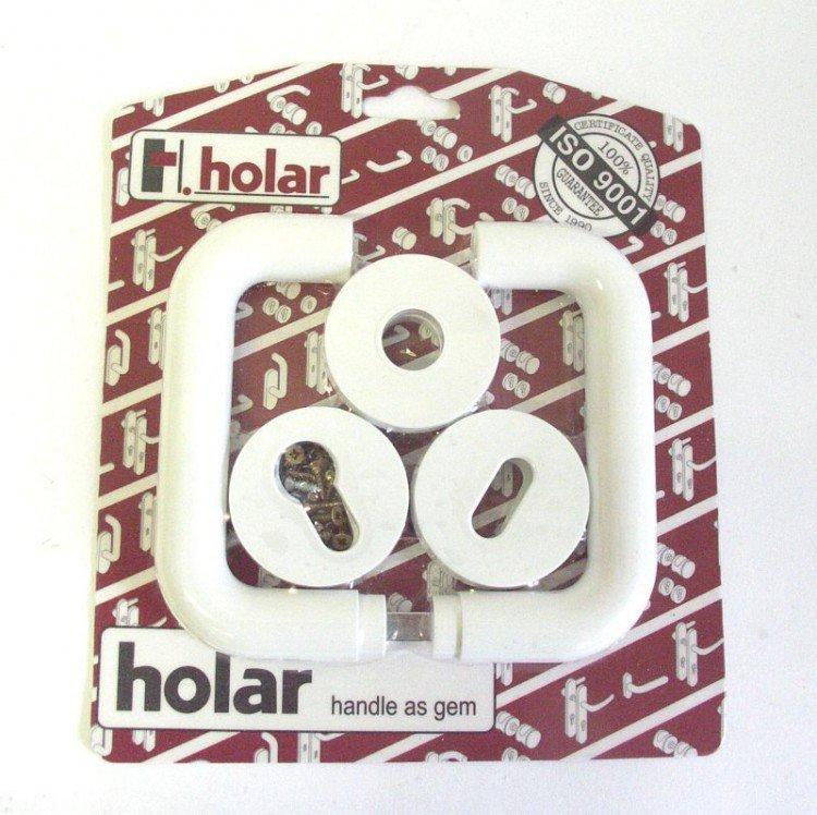 Kliky se štíty HOLAR bílá