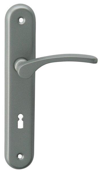Kliky se štíty VIOLA 72 mm klíč, stříbrná, Al