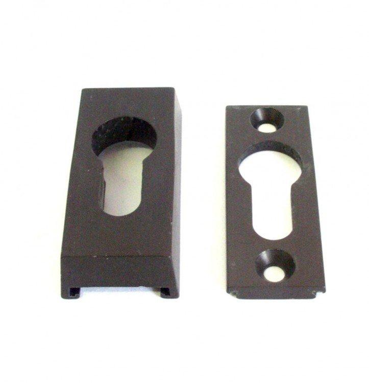 Rozeta bezpečnostní 14 mm bronz