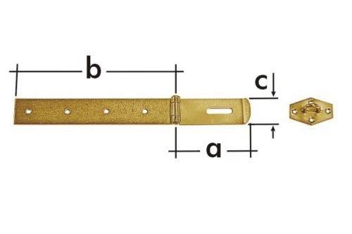Závěs zamykací jednoduchý ZZP 25 100x25x1,5mm