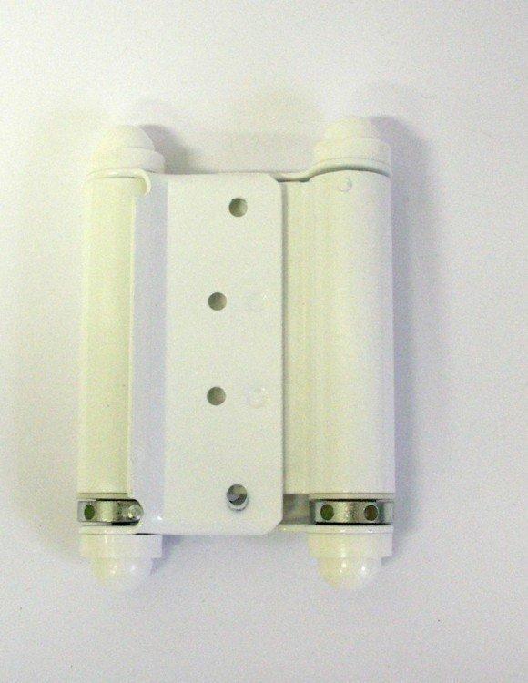 Závěs pružinový 75 mm bílá - komaxit