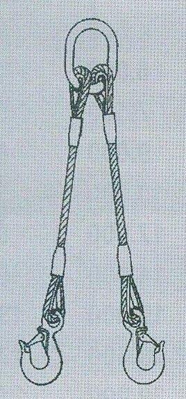 2-hák lanový pr.10mm,dl.1,5m