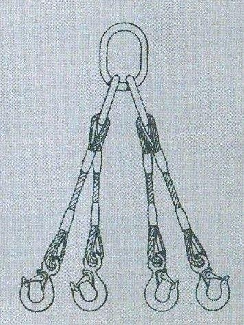 4-hák lan.pr.20mm, 3,0m