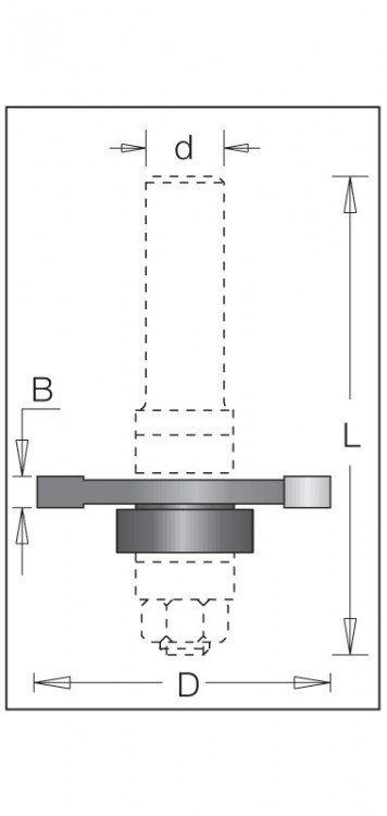 Fréza 1080 D47,6mm B4mm