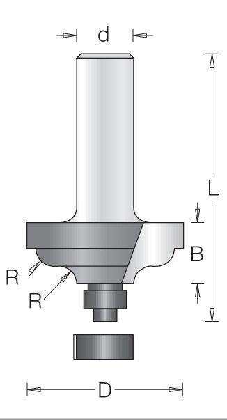Fréza stop.1210 D34,9mm B13,5mm R4