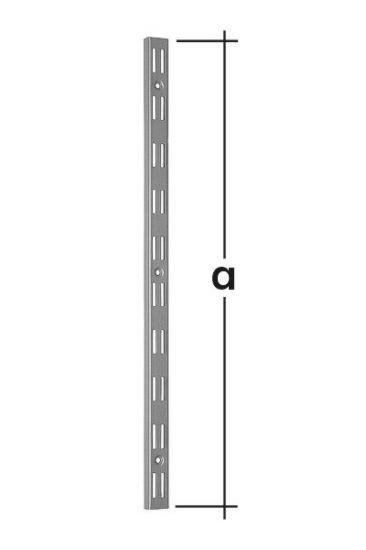 Lišta konzolová nosná dvojitá WLD500 500mm bílá