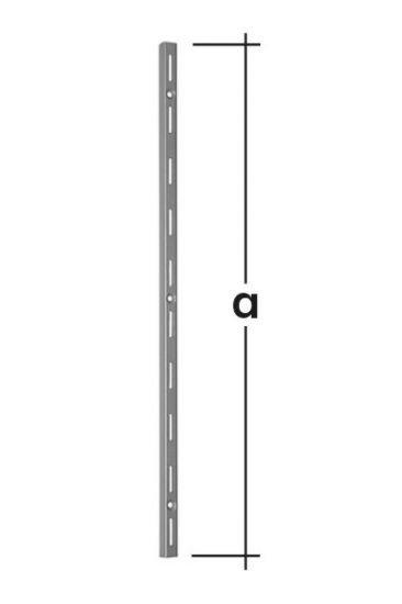 Lišta konzolová nosná jednoduchá WLS500 500mm bílá
