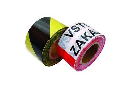 Páska varovací 8 cm x 250 m černo-žlutá
