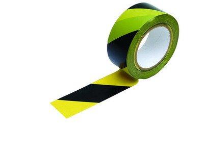 Páska varovací 33 m samolepící černo-žlutá