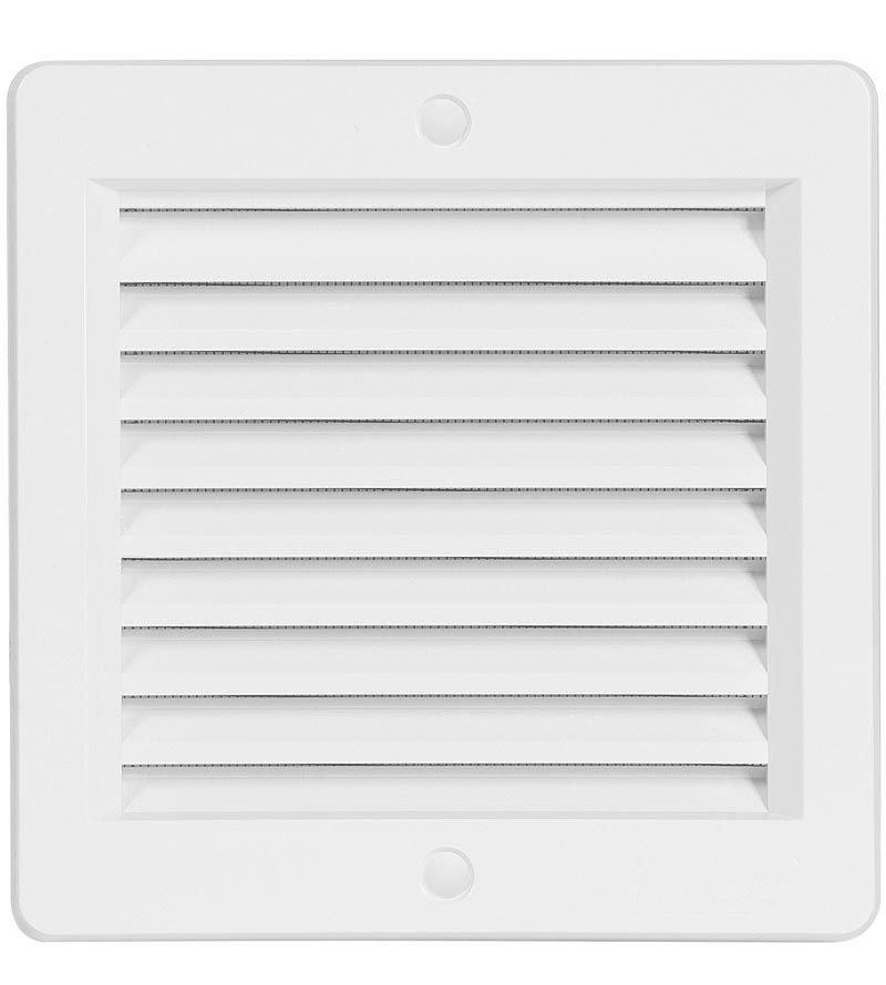 Mřížka větrací 150x150 bílá (rámeček)