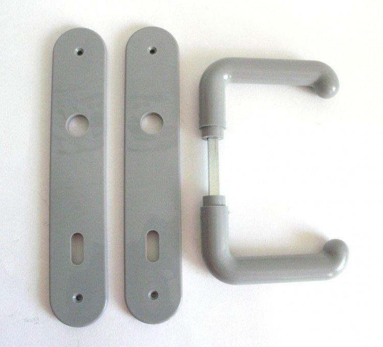 Kliky se štíty IDEAL 2000 72 mm klíč šedá