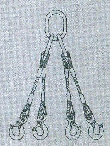4-hák lano ocel.pr.30mm, 4m
