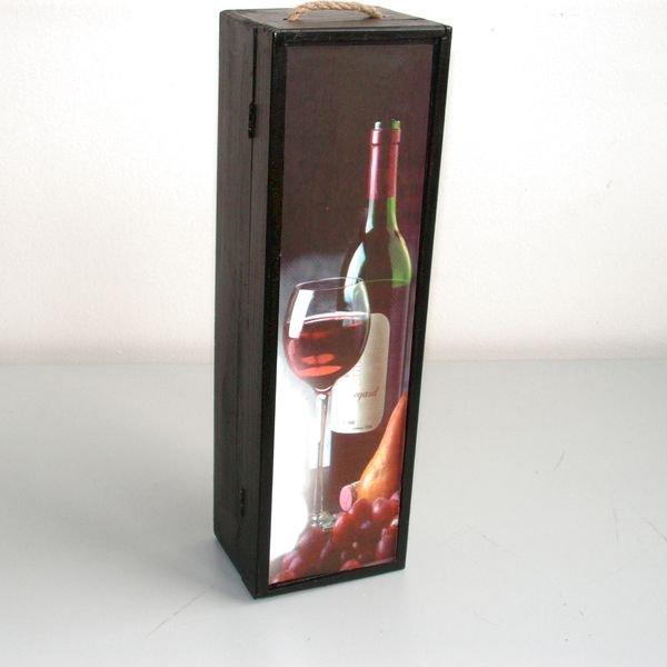Box dřevěný na 1 lahev YT05110