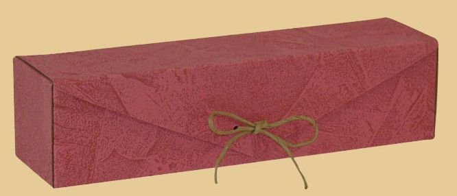 Krabice na víno 364A ozdobná - červená DOPRODEJ