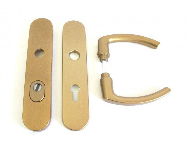 Kování bezpečnostní HARMONIA DEF 90 mm klika - klika elox bronz