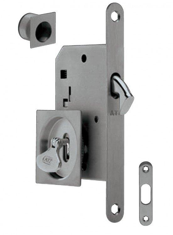 Set AZT 3973D na posuvné dveře čtvercový na klíč BN