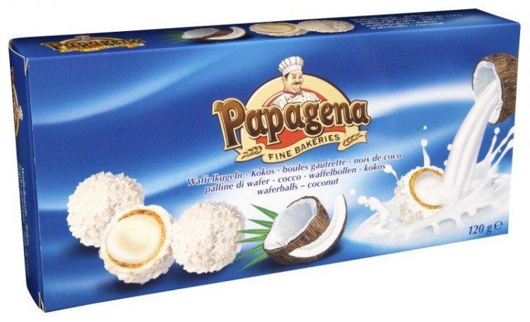 Papagena-Kuličky plněné kokos.krém.120g