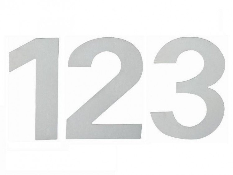 """Číslo domovní """"5"""" 120 mm nerez"""