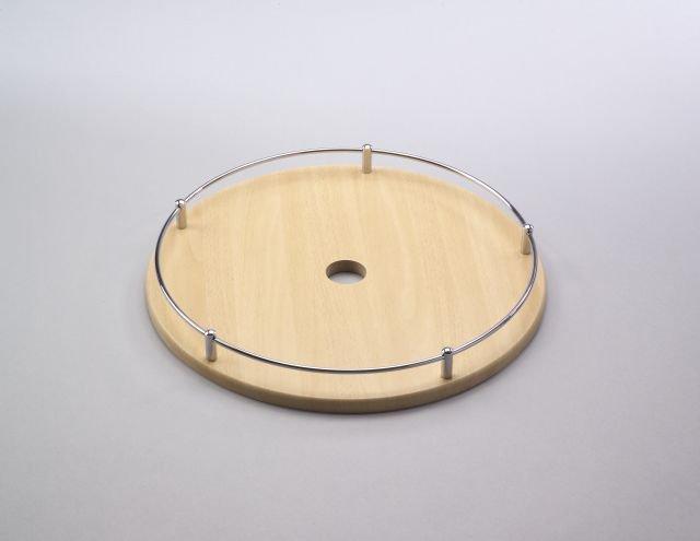 Police dřev.se zábr.435mm Cr-mat/buk sv.