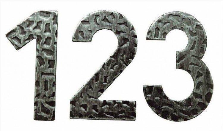 """Číslo domovní """"3"""" kované"""