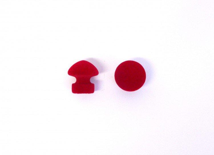 Úchyt nábytkový 351 červený 2 ks FLOCK