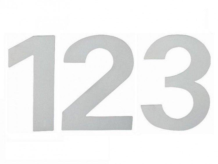 """Číslo domovní """"0"""" 120 mm nerez"""
