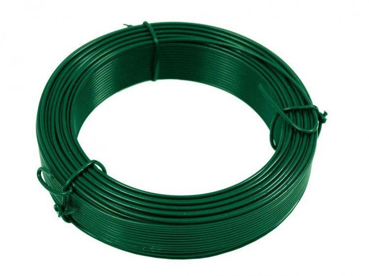 Drát vázací Zn + PVC 1,4/24m, zelený