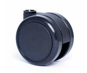 Kolečko tvrdé otočné bez brzdy EMI65-E11, uchycení-čep  (balení 5ks)