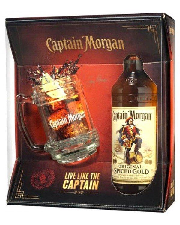 Captain Morgan Spic. gold 40% 0,7l + korbel