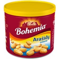Arašídy pražené solené 135g plech Bohemia