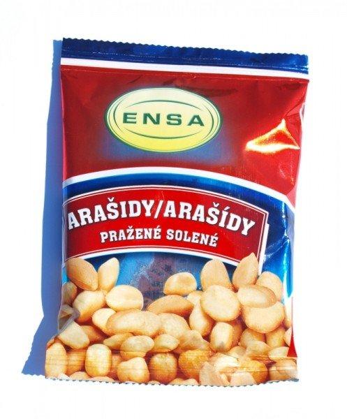 Arašídy pražené solené 100g Ensa