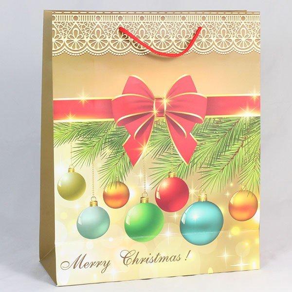 Taška papírová vánoční 1 ks