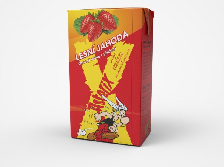 Asterix lesní jahoda 250ml tetrapack  (OR1185)