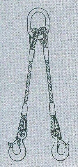 2-hák lanový pr.12mm,dl.0,95m,hák S-320A/5t