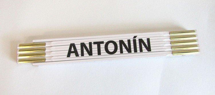 Metr skládací 2 m ANTONÍN         (PROFI, bílý, dřevěný)