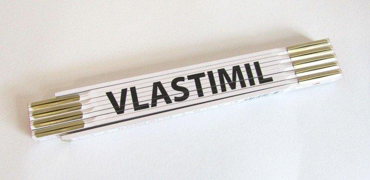 Metr skládací 2 m VLASTIMIL       (PROFI, bílý, dřevěný)