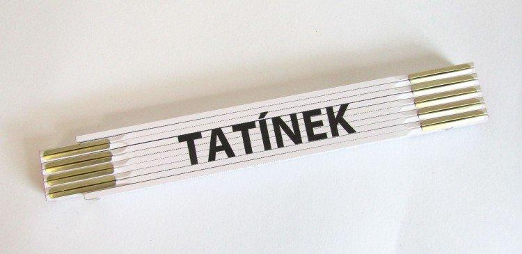 Metr skládací 2 m TATÍNEK          (PROFI, bílý, dřevěný)