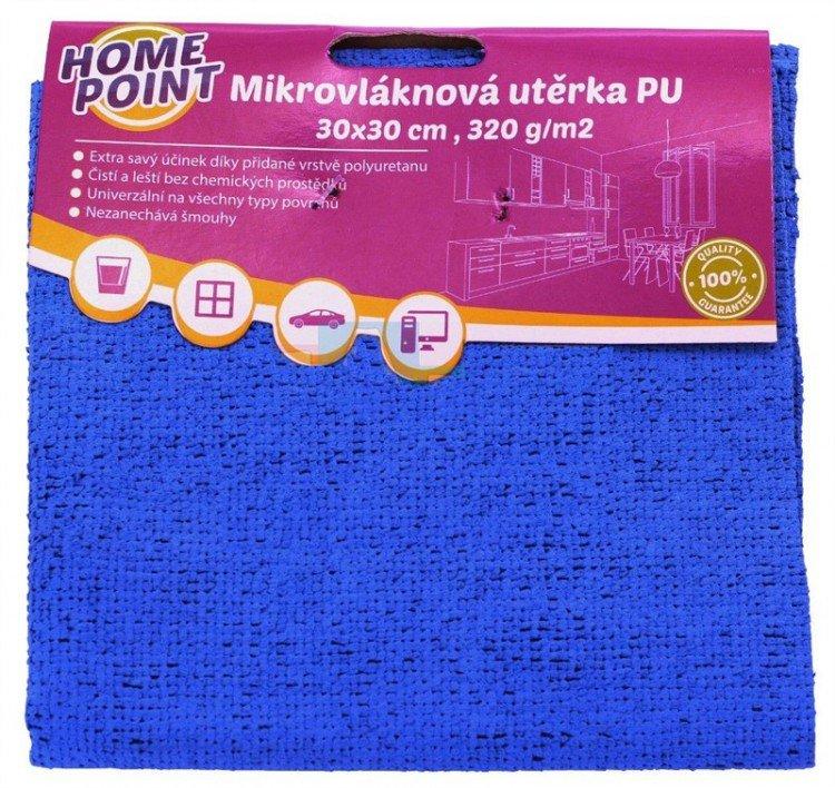 Utěrka mikrovlákno/polyuretan 30 x 30 cm