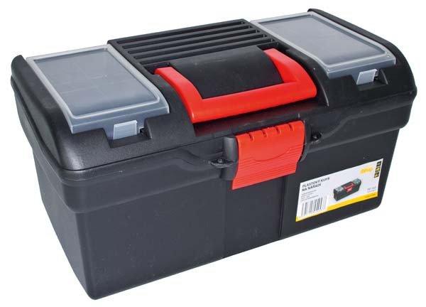 Kufr plastový 394 x 215 x 195 mm s 1 přihrádkou a 2 zásobníky