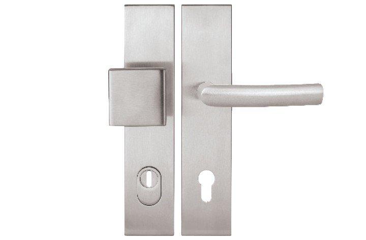 Kování bezpečnostní COLUMBUS 92 DEF HR H na vložku KPZL/R madlo/klika BLOCK levá 2094KS