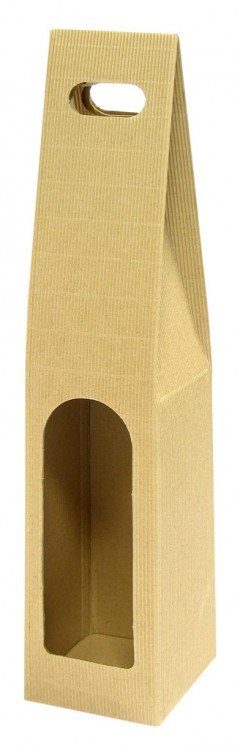 Krabice na víno 1 lahev 80 x 80 x 400 mm