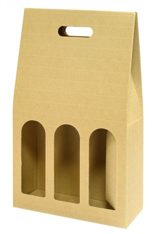Krabice na víno 3 lahve 245 x 75 x 400 mm