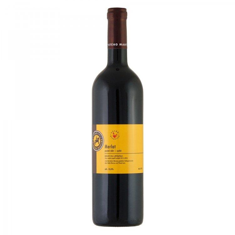Víno Merlot 2016 PS suché č. š. 16/09